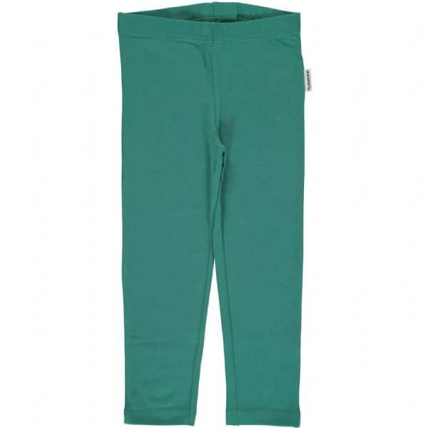 Maxomorra Leggings Cropped Green Petrol